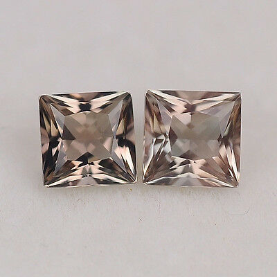 MATCHING PAIR - 4MM - .57ct - OREGON SUNSTONE - USA