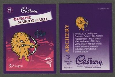 642)  AUSTRALIA SYDNEY 2000 SUMMER OLYMPIC MASCOT CARD #02  By CADBURY