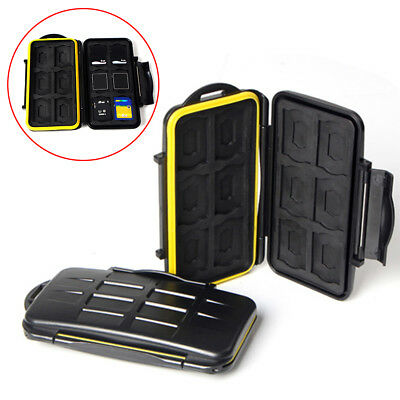 USA Waterproof  JJC MC-SD12 Memory Card Hard Case for 12 SD Cards Secure