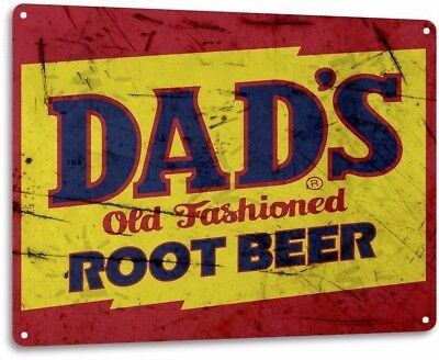 Dad's Root Beer Soda Vintage Retro Tin Metal Sign