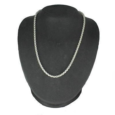 Sterling Silver 925 Fancy Popcorn Chain Necklace