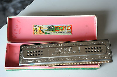 Hohner echo double sided harmonica 57/120 120 hole