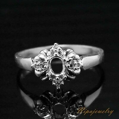 Ring Setting Sterling Silver 4x3mm.Oval size 7.25