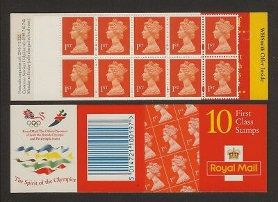 GB Stamps: Decimal Machin Barcode Booklet HD34.