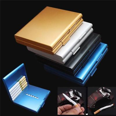 Slim Aluminum Metal Cigar Pocket Cigarette Box Holder Tobacco Storage Case New B
