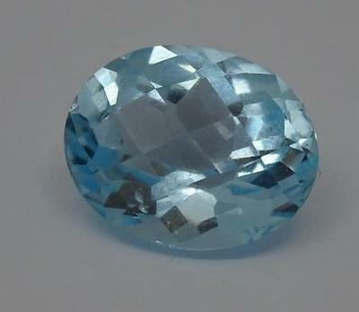 ***Beautiful Natural 6.09ct Blue Topaz Fancy Faceted Oval Cut Gemstone***
