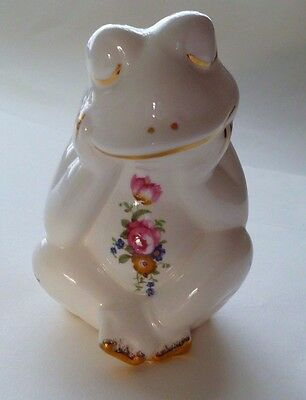 Porcelain Frog with flowers Fenton China