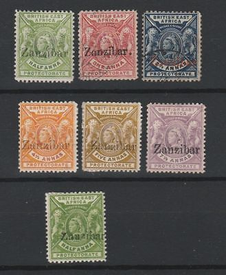Zanzibar 1896 SG # 41/46 one small z vf MINT (2 used)