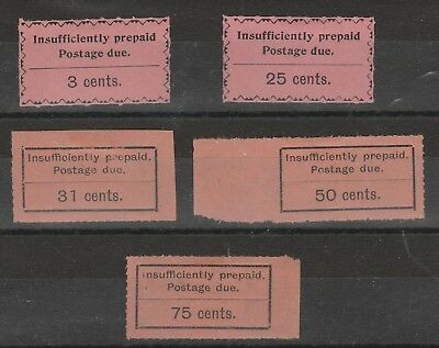 Zanzibar Postage Due 1926 selection of 5 vf MINT