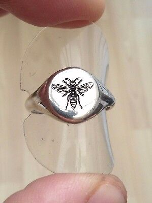 Silver Designer Wasp Signet Ring Top Quality