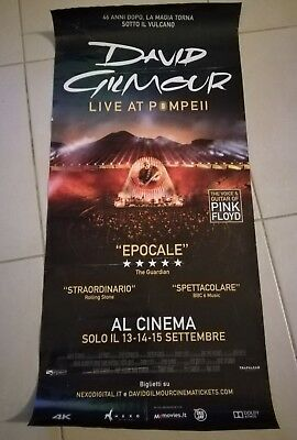 DAVID GILMOUR-LIVE AT POMPEI, LOCANDINA ORIGINALE CINEMA,USATA 32x68 PINK FLOYD