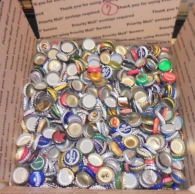 12 lbs 2500+/- used beer bottle caps for crafts box #7 free us shipping