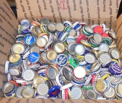 7 lbs used beer bottle caps for crafts box #1 free us shipping