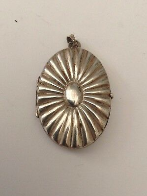 Silver Old Locket Fabulous Puffy Design