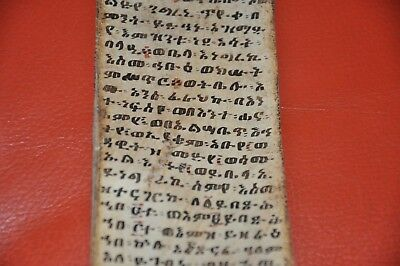 Ethiopian Magic Scroll Ge´ez  ,manuscript  Leather   Ancient  , Original Africa