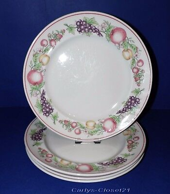 """BOOTS Orchard * 4 Pottery Dinner Plates * 10.25"""" (26cm) Diameter *"""