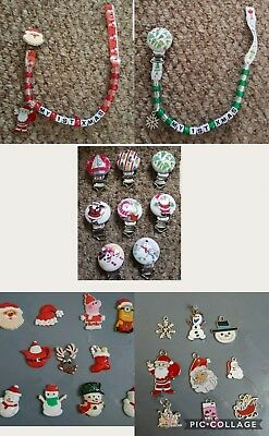 Xmas Personalised Dummy Clip,  Any Name, *free Mam Ring* Read Full Description!!