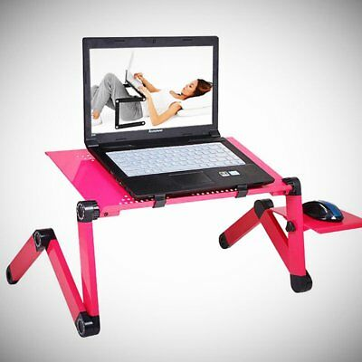 Adjustable Portable Laptop Computer Stand Desk Table Tray Bed Mouse Holder RT