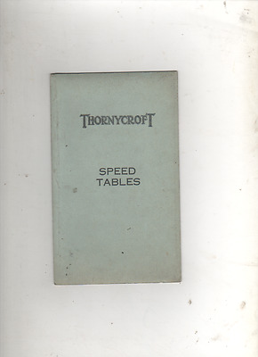 Thornycroft Speed Tables  1942  SHIPS  BOATS  ENGINEERING SHIPBUILDING