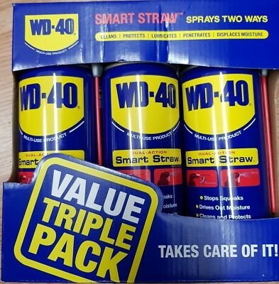 WD40 VALUE PACK 3 X 400ml TINS SMART STRAW WD40 PACK OF THREE new