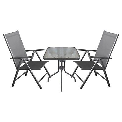 balkonm bel sitzgruppe campingm bel set alu bistrotisch 60x60cm 3x hochlehner eur 169 95. Black Bedroom Furniture Sets. Home Design Ideas