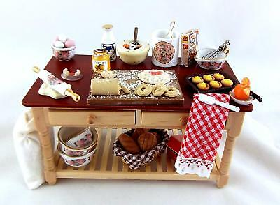 Melody Jane Dolls Houses Kitchen Furniture Classic Rose Full Baking Table