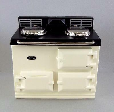Melody Jane Dolls Houses 1:12 Scale Kitchen Furniture Cream Aga Stove Oven