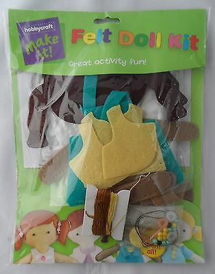 Hobbycraft Ethnic Felt Doll Kit Make Sew it Yourself Age 8+