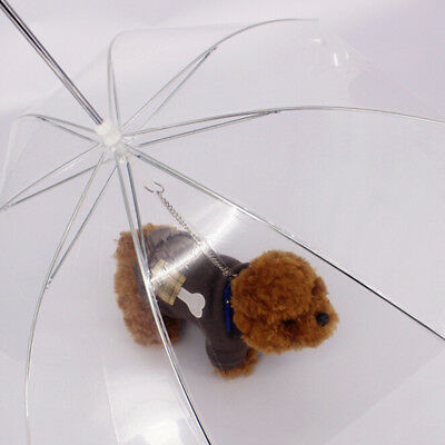 Play Dry Comfortable In Rain Snow Pet Puppy Dog Cat Transparent Umbrella Lead