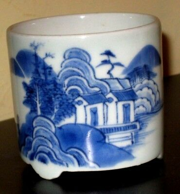 Small Chinese Brush-pot with Landscape decoration
