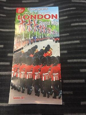 London UK GB Places of Interest - Tourist Guide Tube Map Leaflet - 2017 Version