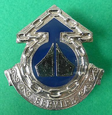 5 BASE ORDNANCE DEPOT SOUTH AFRICA ARMY type 2 silver centre AFRICAN CAP BADGE