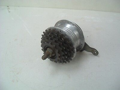 Vintage Bicycle Drum Brake Rear Wheel Hub Tandem Bike 5 Speed Gear Block