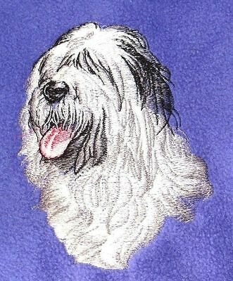 Embroidered Short-Sleeved T-Shirt - Old English Sheepdog BT2621