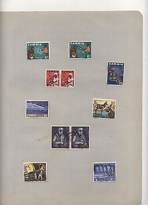 50 Plus Postage Stamps.of Zambia