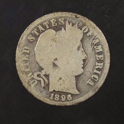 1896 O Barber Dime 10C Ag About Good