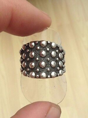 Silver Bobbly Ring Big And Bold