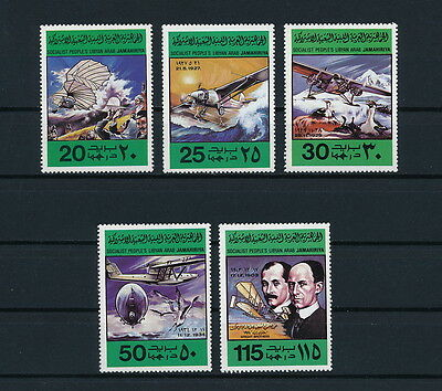 Libya  769-73 MNH, Ist Powered Flight, 1978