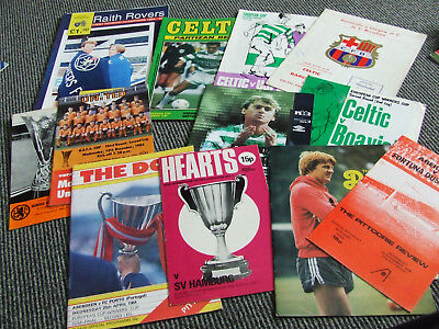 Collection Of Scottish Teams In Eorpean Games X 12 Issues