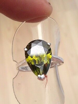 Silver Russian Diopside  Ring  Gorgeous Stone