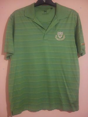 Old Padeswood Golf Club Green Polo Shirt Size L Murray Golf Mold North Wales