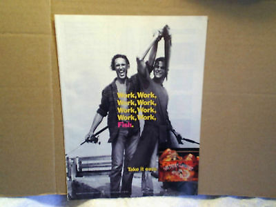 1994 SOUTHERN COMFORT Whiskey work fishing AD PRINT