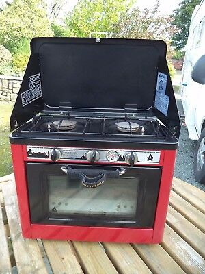 Outdoor Portable Camp Oven Gas Oven and Hob with 2 Burner Rings