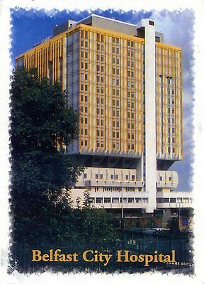 Belfast - City Hospital - Tower Block - Postcard View