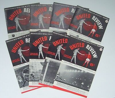 1966/67 - MANCHESTER UNITED HOMES x 8 - TITLE WINNING SEASON - LISTED