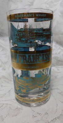 Vintage Souvenir Glass Tumbler~San Francisco California~5.5""