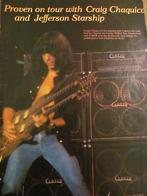 Craig Chaquico, Jefferson Starship, Carvin Amplifiers, Full Page Promotional Ad