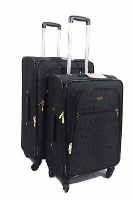 4 Wheel Set of 2 Lightweight Suitcase Spinner Luggage Trolley Travel Cabin Bag