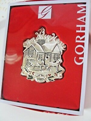 Gorham Our New Home 2007 Silverplate Christmas Ornament Holly Red Gem Berry NEW