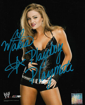 Wwe Maria Hand Signed 8X10 Autographed Photofile Photo Inscribed With Proof Coa